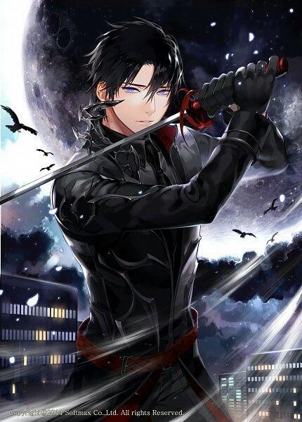 Jacket Vampire Anime Leather Black Guy Hair