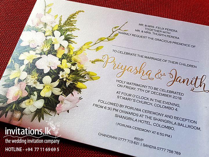 Wedding Invitations Cards Sri Lanka Wedding Invitations Wedding Invitation Cards Invitations