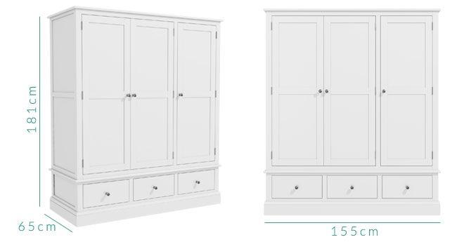 Harper wardrobe dimensions