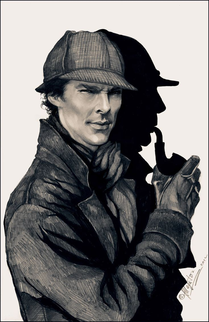 (Benedict) Sherlock in the original Sherlock Holmes attire Ahhh! Whoever did this is awesome!
