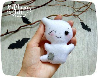 Cute Halloween fieltro adorno fantasma fieltro por MyMagicFelt