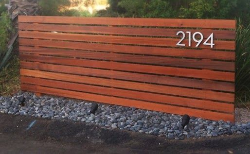 In the Works // Wood Slat Privacy Screen Wood fence