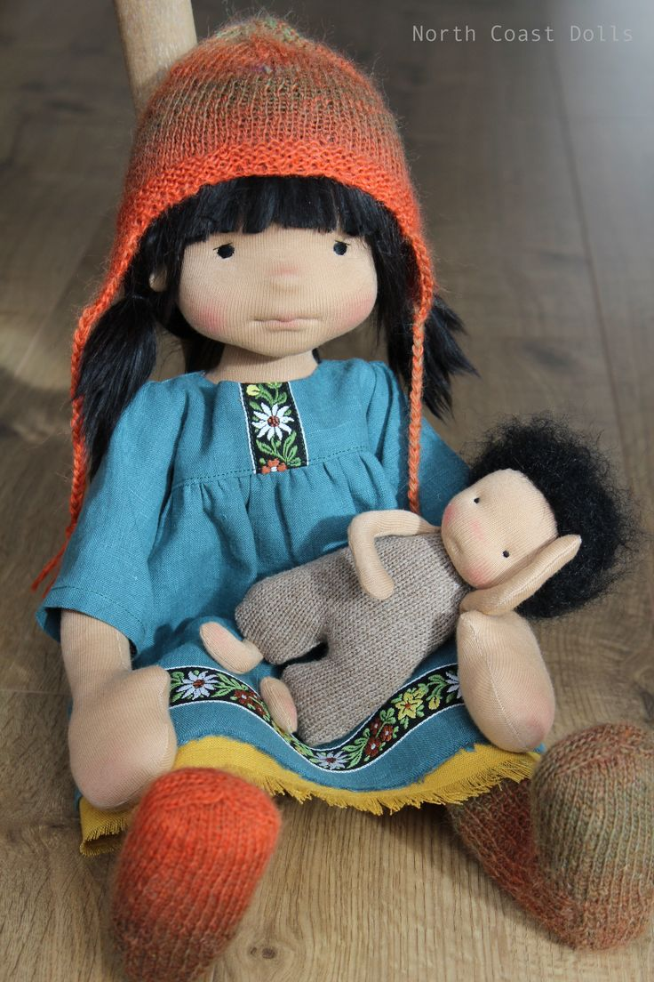 Luz and her baby brother Hector. By North Coast Dolls