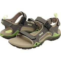 Teva Toachi Bungee Cord: This sandal has the good clips for easy on and off without velcro. Like these the best. $95