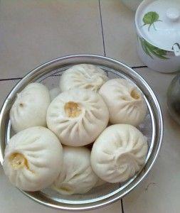 ♨ Chinesische Baozi mit Schwein