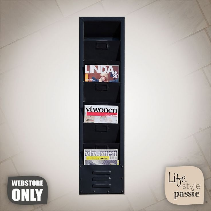 Tijdschrift Houder - 1056 Zwart - Decoraties - Lifestyle Passie - Sfeervol wonen begint bij Lifestyle Passie