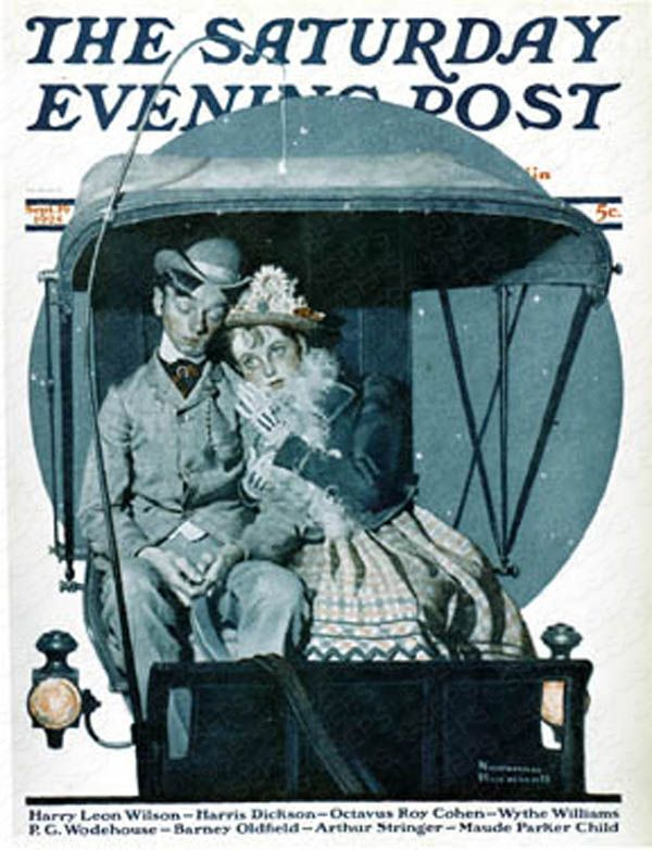 """""""Moonlight Buggy Ride"""" 1925- Norman Rockwell"""
