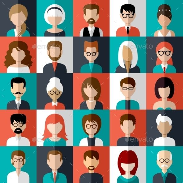People Icons — JPG Image #web #girl • Available here → https://graphicriver.net/item/people-icons-/10611873?ref=pxcr