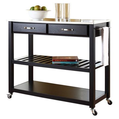 Alcott Hill Bernice Kitchen Cart with Stainless Steel Top & Reviews | Wayfair