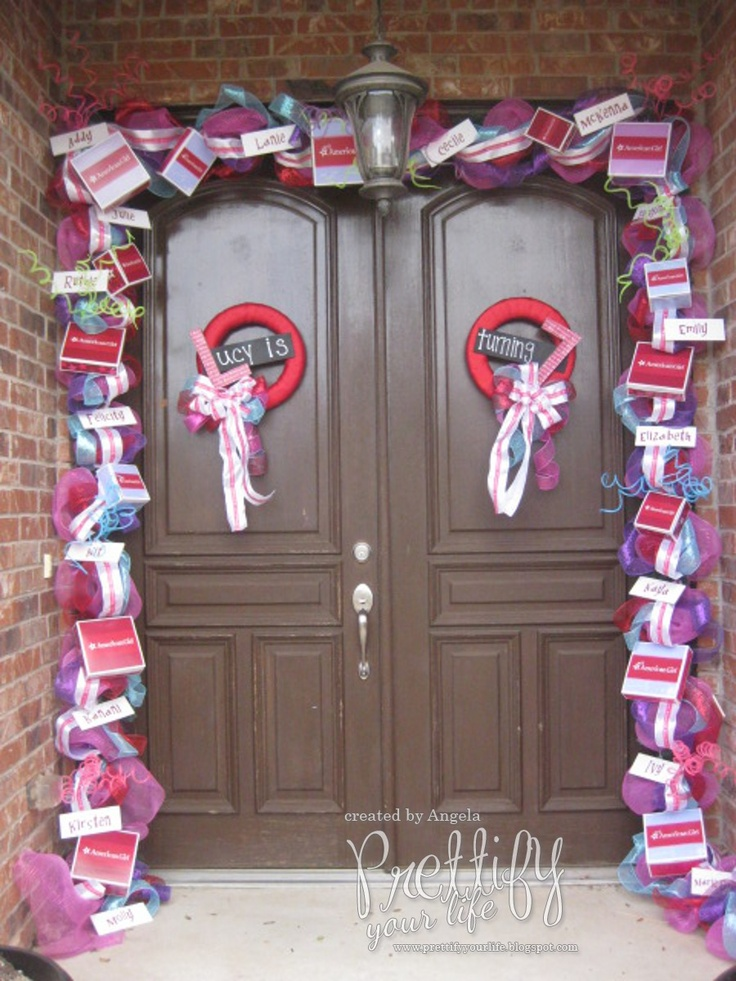 Door decor parties american girl birthday ideas for American decoration ideas