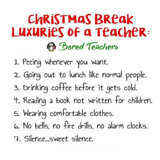 Kindergarten and Mooneyisms: Christmas Break Luxuries of a Teacher