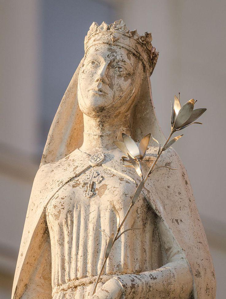7/24: Saint Kinga/Cunegunda (1224-1292) Patron Saint of Poland, Lithuania and Salt Miners - an extra Saint of the Day, just because I love this image! (Szent Kinga, Inner City Parish Church of Our Lady, Budapest, Hungary)