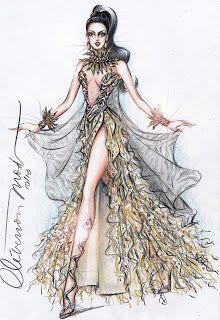DESENHOS DE MODA: Desenhos de Moda -  Look inspirado no clip ROAR de...