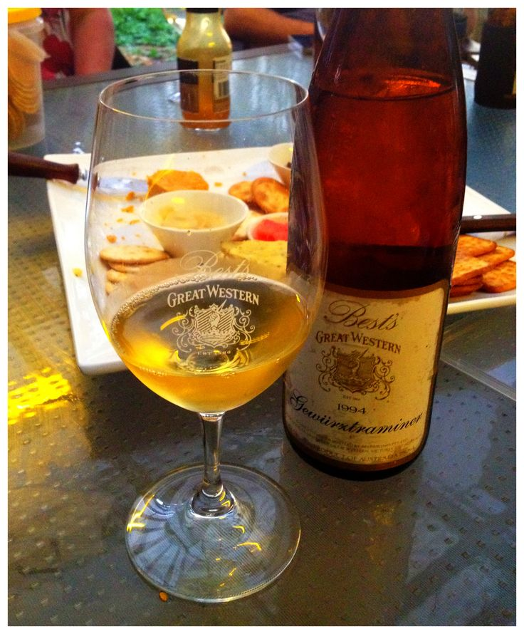 What goes well with a Best's 1994 Gewurztraminer? Cheese of course!
