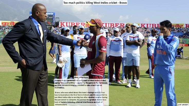 """West Indies news: December 16, 2015  Too much politics killing West Indies cricket - Bravo  Dwayne Bravo lamented the sorry state of West Indies cricket, saying """"too much politics"""" was killing the game in the Caribbean, and that the administrators needed to take a hard look at themselves."""