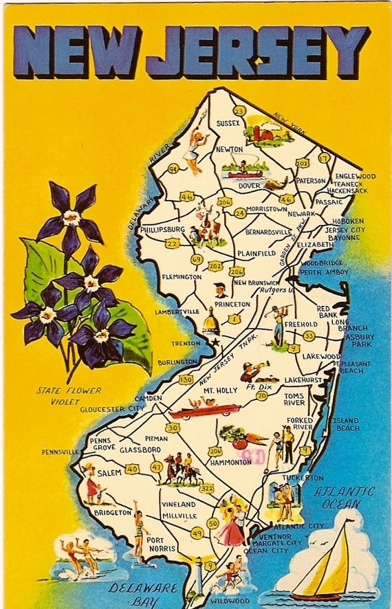 Best New Jersey Images On Pinterest New Jersey Jersey Girl - Nj road map