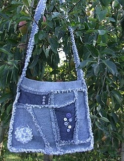 jean bag - recycled fabric - way to go