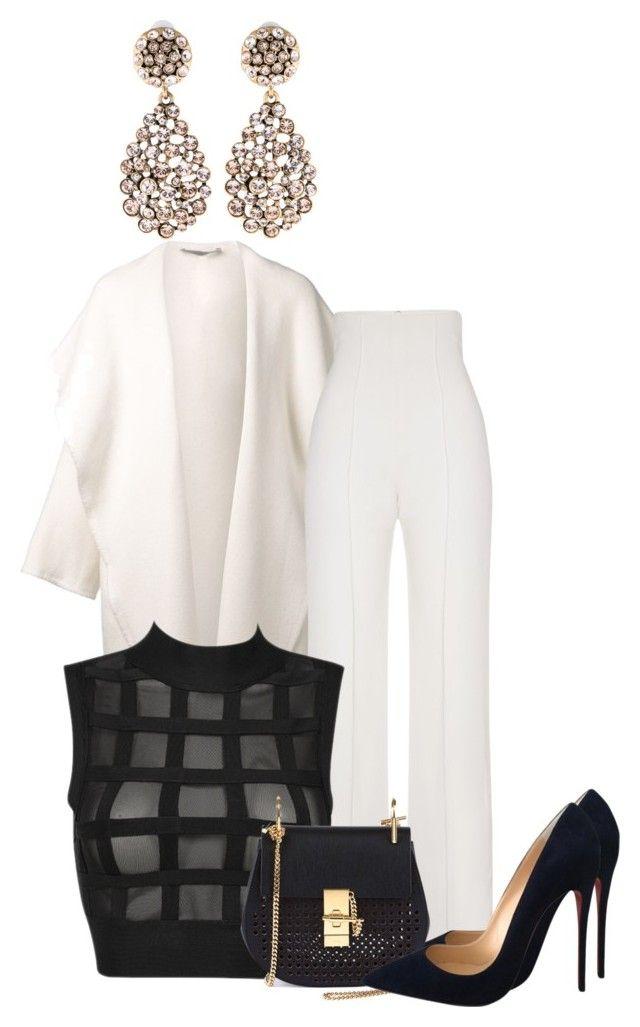 Look com destaque para as cores branca e preta