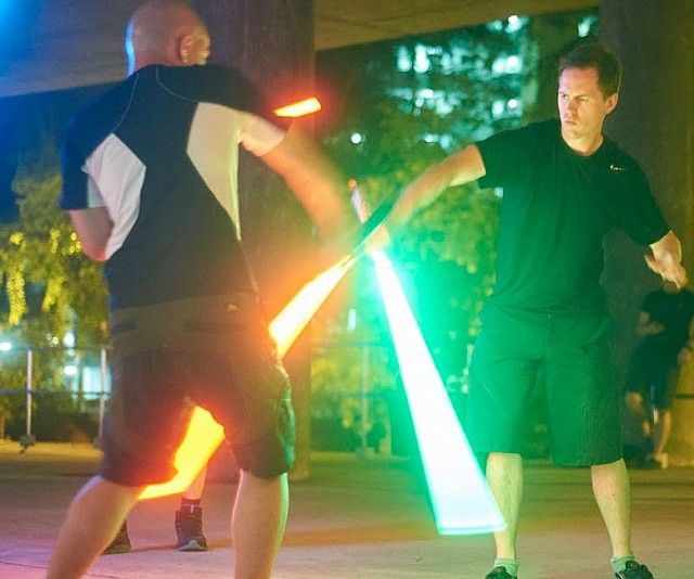 Learn the skills necessary to become a Jedi knight by signing up for these lightsaber fighting classes. Based on actual combat blade fighting, these interactive classes teach you the finer points of sword fighting so you can quickly advance from Padawan to Jedi master.