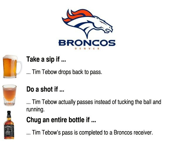 The Official NFL Wildcard Weekend Drinking Game