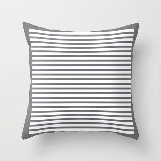 30 colours, Striped Pattern decorative pillow cover, Grey Striped pillow cover, Cushion cover, Decorative pillow cover by ThingsThatSing on Etsy https://www.etsy.com/listing/207431784/30-colours-striped-pattern-decorative