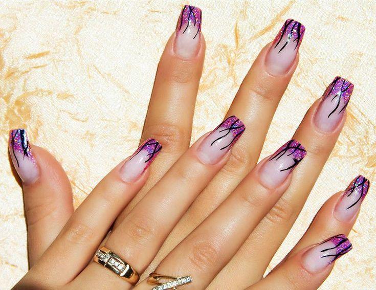 40 best u as decoradas y pintadas de acr licas y de gel images on pinterest french nails - Unas acrilicas decoradas ...
