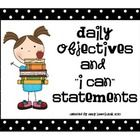 These colorful posters can be used to display your daily objectives for five different subjects.  Included are daily objective posters for reading,...
