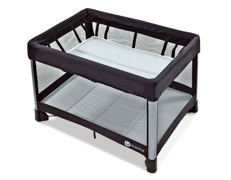 4moms pack and play // SUPER easy to set up. Comes with bassinet topper which we used in our bedroom with Lennox until she slept thru the night in her own room and crib. When she's older, this can be used as pack and play in living room, for travel, etc!