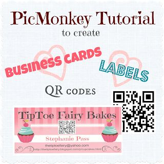 Make Your Own Business Cards & Labels with QR code @PicMonkey - The TipToe Fairy