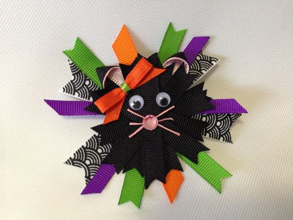 Halloween Black Cat by ArgenCrafts on Etsy