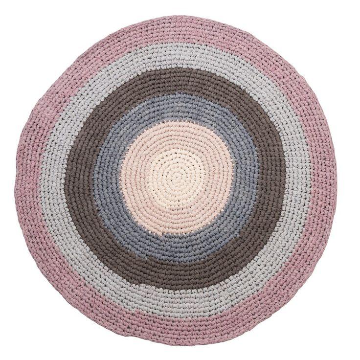 Sebra - vloerkleed katoen rond pastel lila