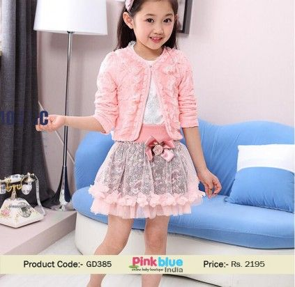 3 Piece Baby Girl Lace Print Dress Baby Clothing For 2015