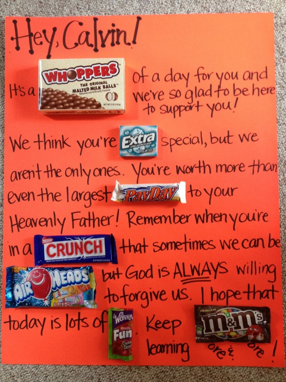 Baptism Card Idea---I love these candy bar cards, they're so awesome