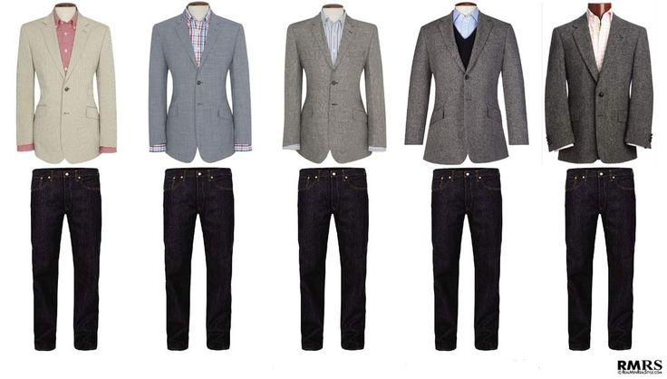 How to wear sport jacket with Dark Jeans