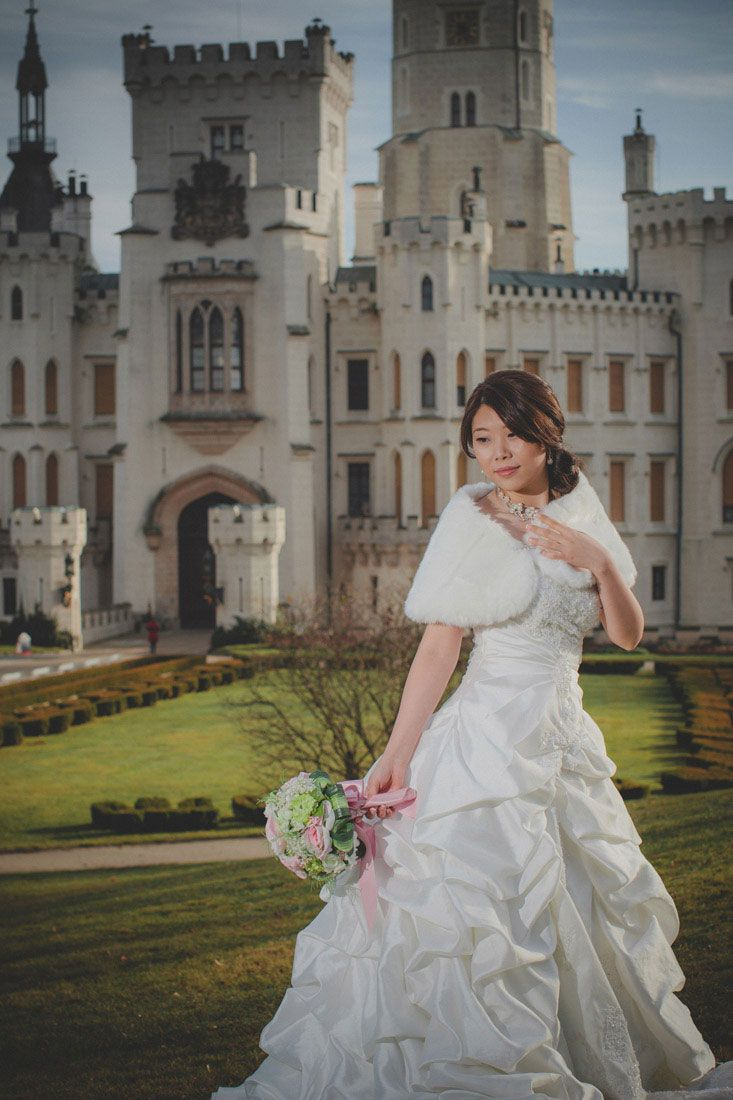 a beautiful bridal portrait at Castle Hluboka