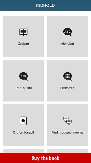 50 languages - 50 sprog er gratisl Her lærer man det dansk sprog og tager små quizzer undervejs.