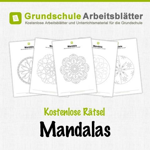 Kostenlose Mandalas für Kinder.