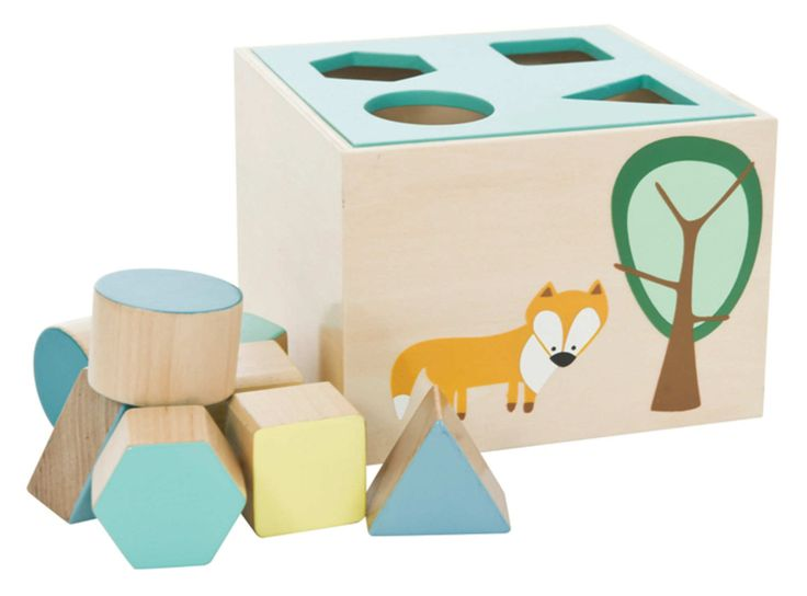 Pretty pastel colors shape sorter | 10 Wondrous Wooden Toys for Kids - Tinyme Blog