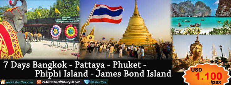 Yuk jangan lewatkan liburan tahun baru Anda begitu saja.Kini tersedia paket 7 Hari Days #Bangkok – #Pattaya – #Phuket – Phiphi Island – James Bond Island. Booking sekarang juga yah sebelum kehabisan!  Dapatkan Special Paket tersebut dari LiburYuk.com di http://liburyuk.com/groupseries/book/42902471/Special-New-Year---7-Days-Bangkok-–-Pattaya-–-Phuket-–-Phiphi-Island-–-James-Bond-Island  #abbeytravel #holiday