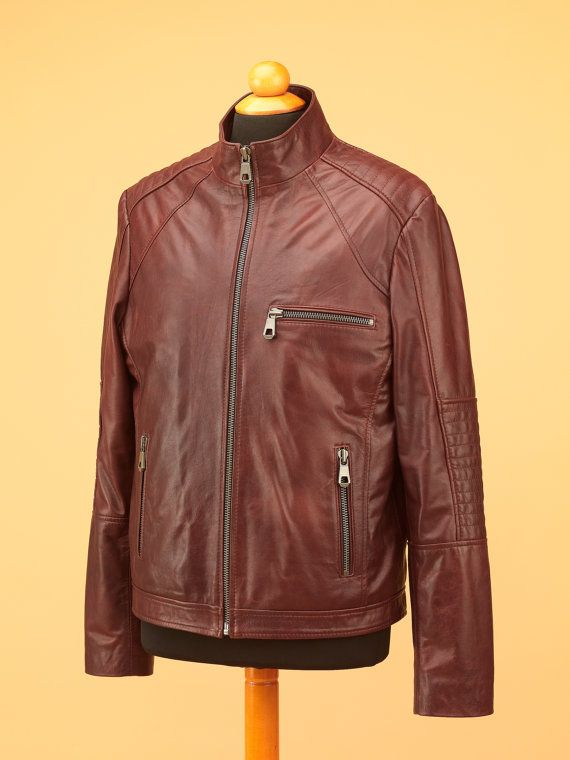 Biker leather Jacket  men leather jacket  leather от modadipelle