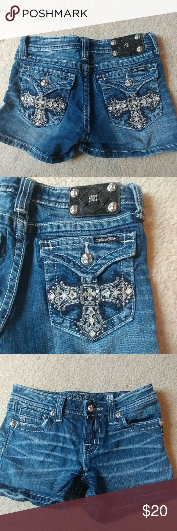 Girls Miss Me Jean Shorts size 16 Miss Me Jean Shorts size 16. Excellent condition. Miss Me Bottoms Shorts