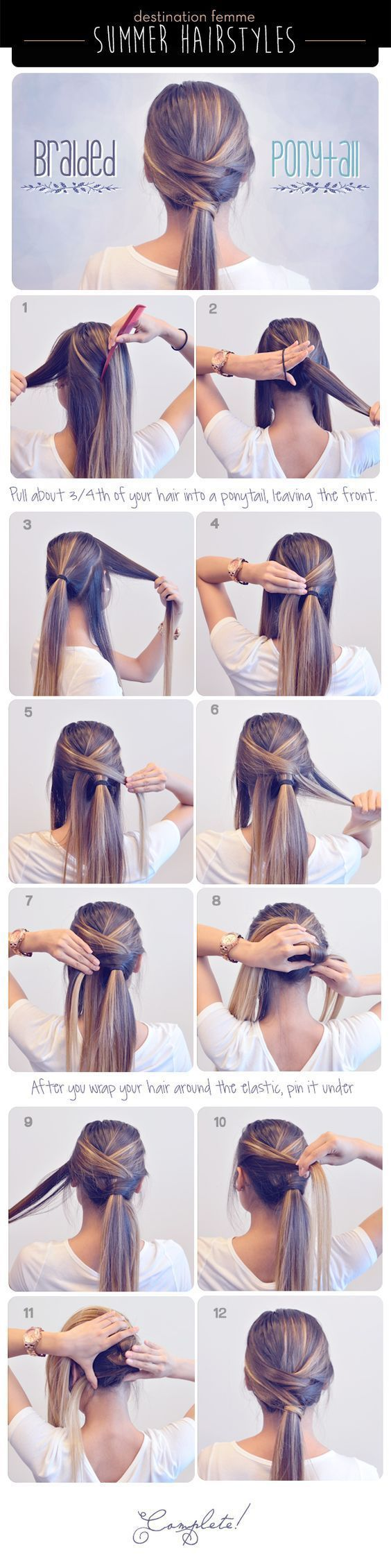 nice Summer Braided Hair Tutorial by http://www.dana-haircuts.xyz/hair-tutorials/summer-braided-hair-tutorial/