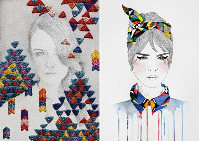These are absolutely gorgeous! Embroidered pictures by Izziyana Suhaimi