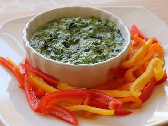 Facil dip de espinacas - Receta dip de espinaca | Quericavida.com