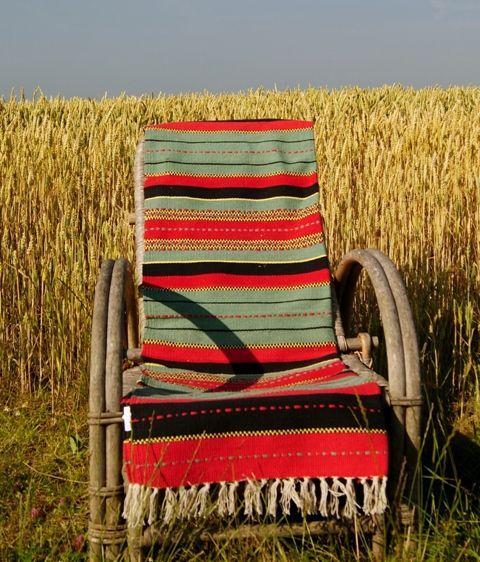Mooi vloerkleed van Gringo. (Kan ook prima over een bank of stoel) Hand gemaakt van 100% katoen. In prachtige kleuren. Fair Trade!  Afmetingen 95x155
