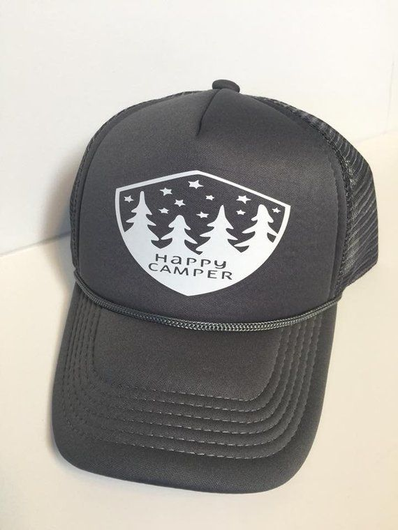 f3f90dbc470 Happy Camper, Happy Camper Hat, Happy Camper Trucker Hat, Happy Camper  Fashion, Happy, Happy Camper Cute, Happiness, Women Trucker Hat, Hat