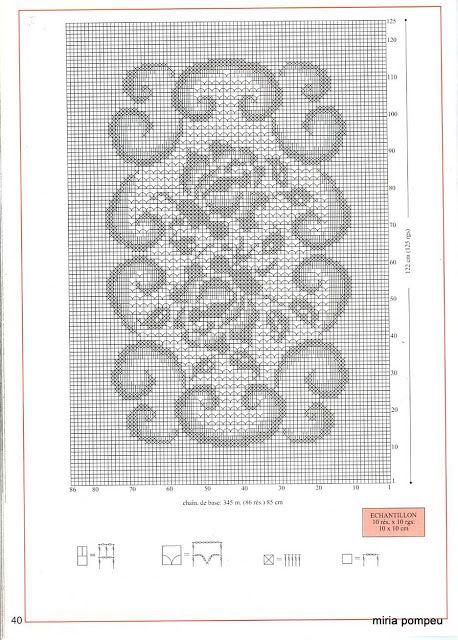 Artes by Cachopa - Croche & Trico: Toalha de mesa quadrada - Croche file com rosas