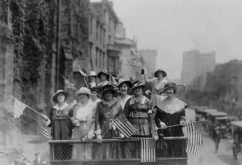 Women parade through the streets of New York City, ca. 1910. Photo: George Grantham Bain Collection (Library of Congress)