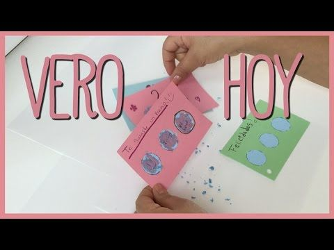 DIY - Como hacer Cartitas de Raspa y Gana - YouTube