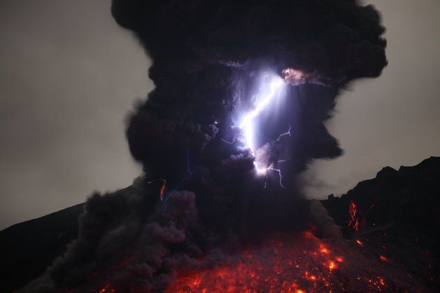 "Rietze said: ""I waited around four days for Sakurajima to produce repeated lightning events."""